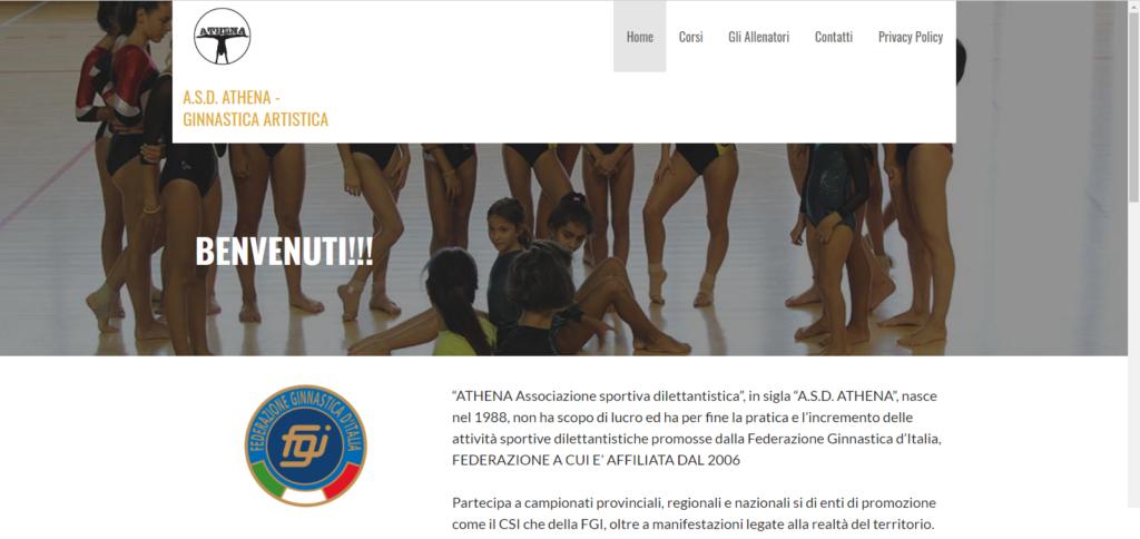 Sito internet polisportiva - Ginnastica Artistica - Realizzato in WordPress