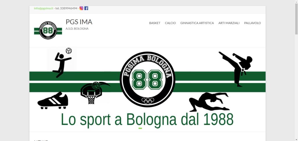 Sito internet polisportiva PGS IMA Bologna